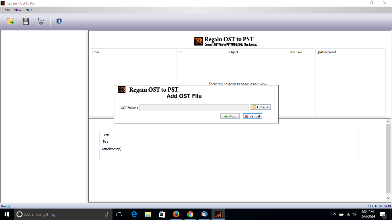Regain OST to PST Converter Shareware